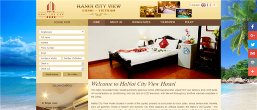 Website khách sạn Ha Noi City View