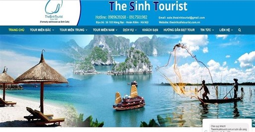 Thiết Kế Website Du Lịch - Mẫu 44 - Thesinhcafetourist.com.vn