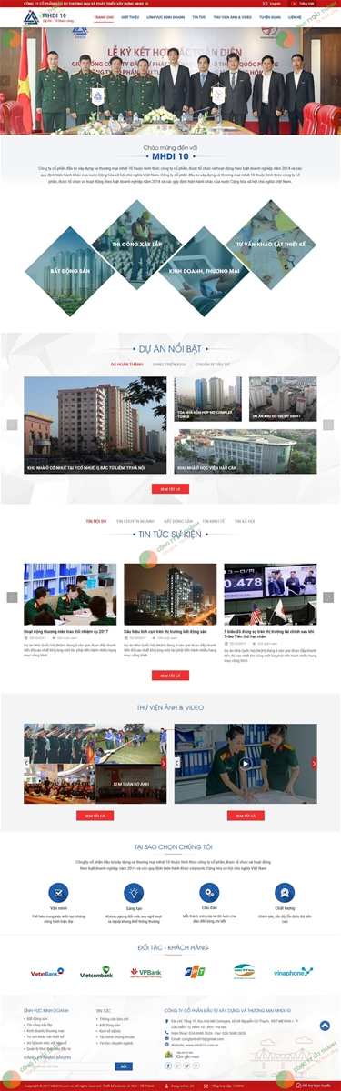Thiết kế web xây dựng