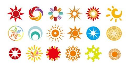 Logo mặt trời Đẹp| Biểu tượng mặt trời