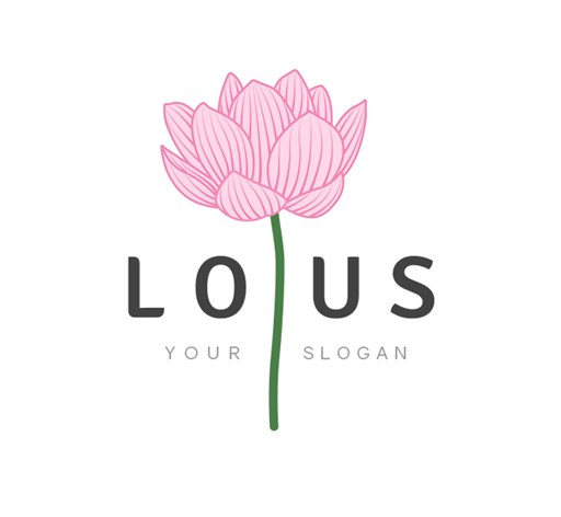 Mẫu logo hoa sen đẹp