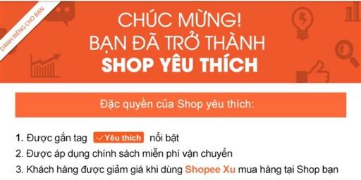 Cách trở thành shop yêu thích trên Shopee