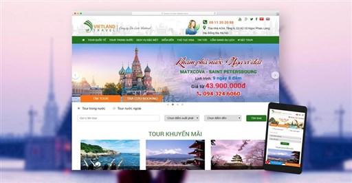 Thiết kế Website Du Lịch chuyên nghiệp toàn diện